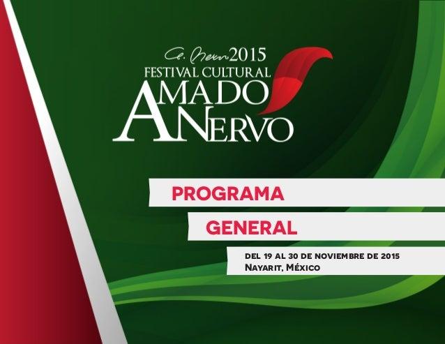 PROGRAMA GENERAL del 19 al 30 de noviembre de 2015 Nayarit, México