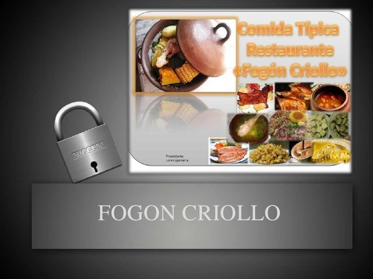 FOGON CRIOLLO<br />