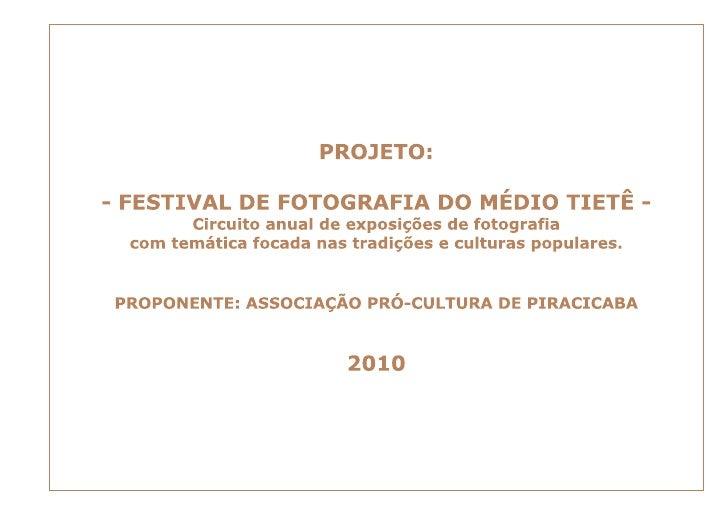 Festival de Fotografia do Médio Tietê