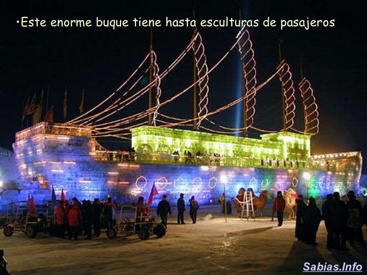 <ul><li>Este enorme buque tiene hasta esculturas de pasajeros </li></ul>Sabias.Info