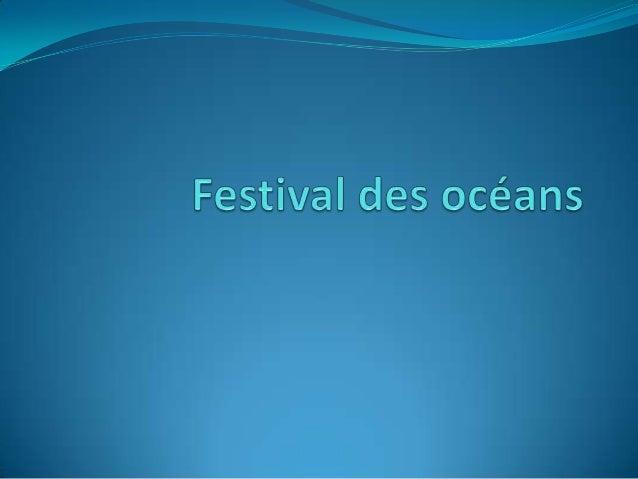 Feu d'artifice du festival des océans