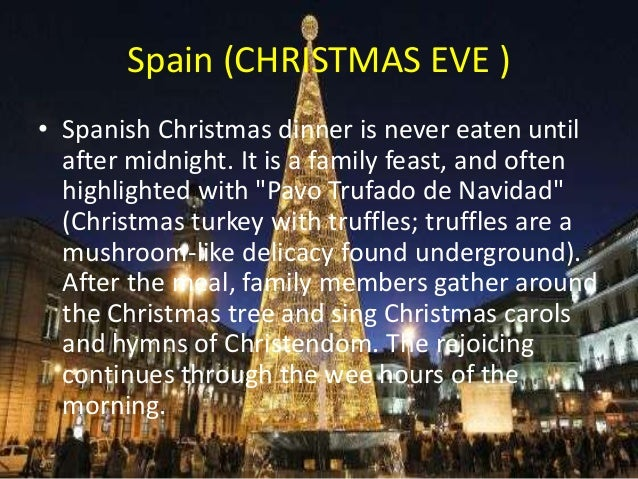 Christmas Eve In Spanish.Festivales Invierno