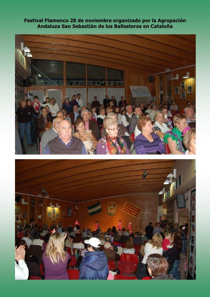 Festival Flamenco 28 de noviembre organizado por la Agrupación      Andaluza San Sebastián de los Ballesteros en Cataluña