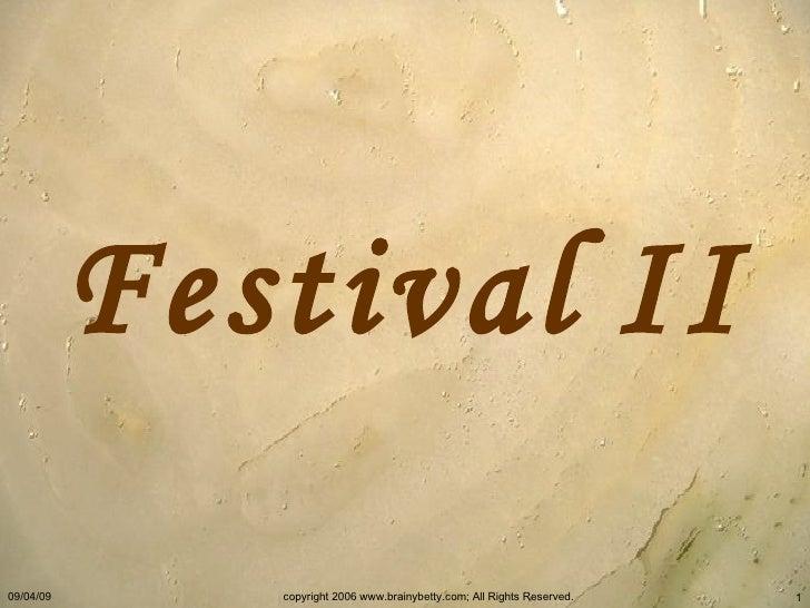 Festival   II