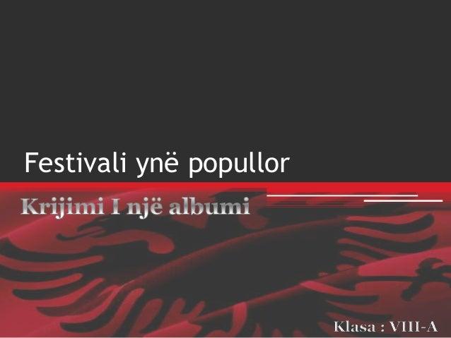 Festivali ynë popullor