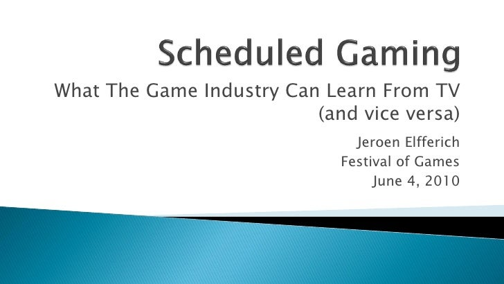 What The Game Industry Can Learn From TV                           (and vice versa)                                Jeroen ...