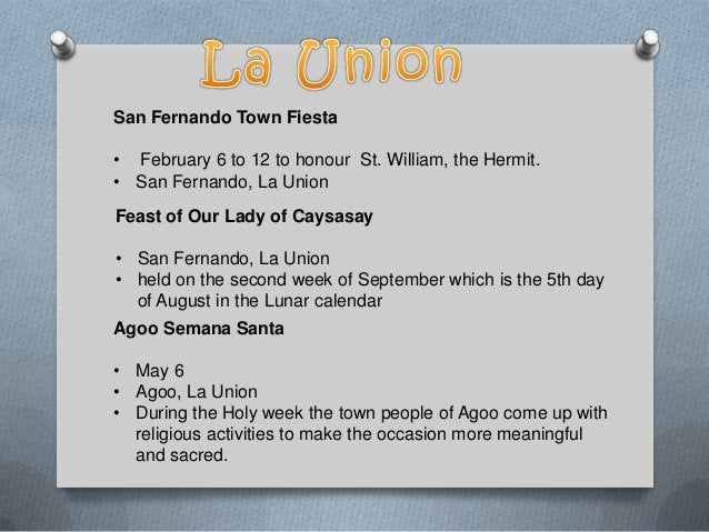ARINGAY FESTIVAL • May 15-21 • Aringay, La Union • Fiesta celebration highlighting the agricultural product of Lasam, the ...