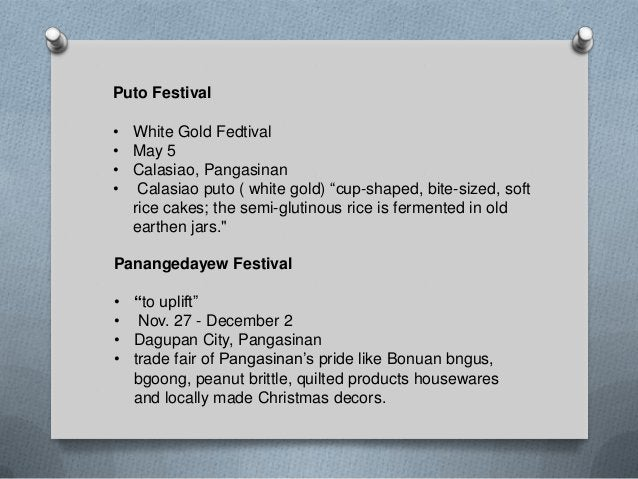Sigay Festival • January 15 to February 2 • Binmaley, Pangasinan • It serves as the main highlight of the fiesta celebrati...