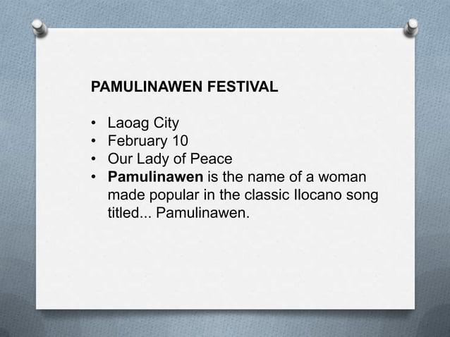 PINILI TOWN FIESTA AND AGROINDUSTRIAL FARE and GARLIC FESTIVAL • April 13 - 16 • Pinili,Ilocos Norte • Pinili Town Fiesta ...
