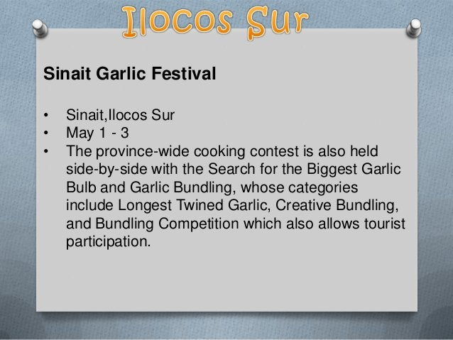 Pinakbet Festival • • •  Sta. Maria, Ilocos Sur April 23 it features street dances and cooking competitions and honours th...