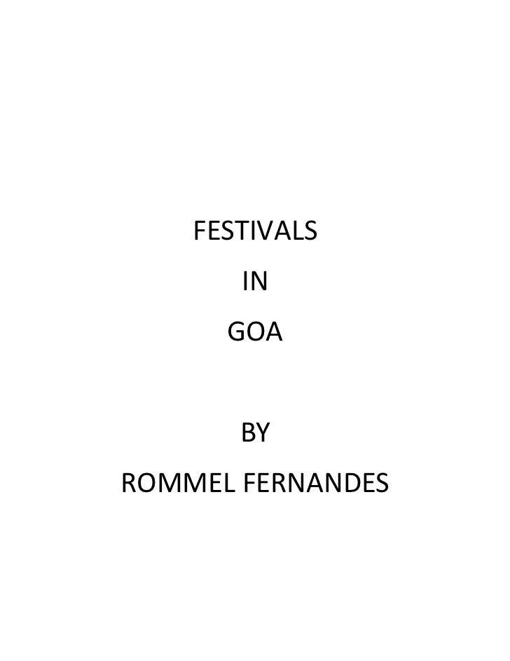 FESTIVALS       IN      GOA       BYROMMEL FERNANDES