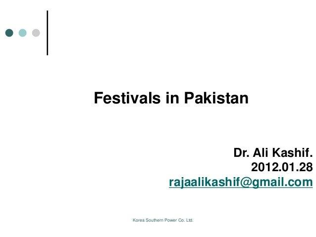 Festivals in pak