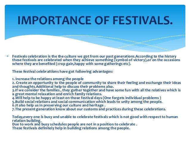 Advantages and disadvantages of festivals