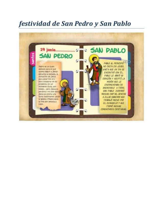 festividad de San Pedro y San Pablo