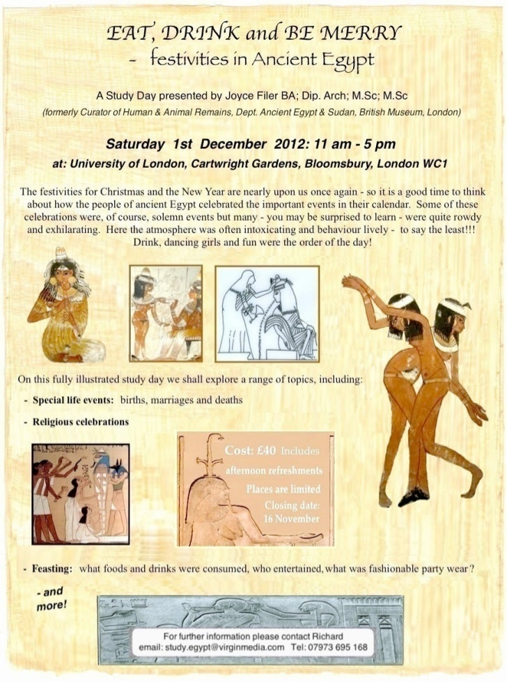 Festivities in Ancient Egypt