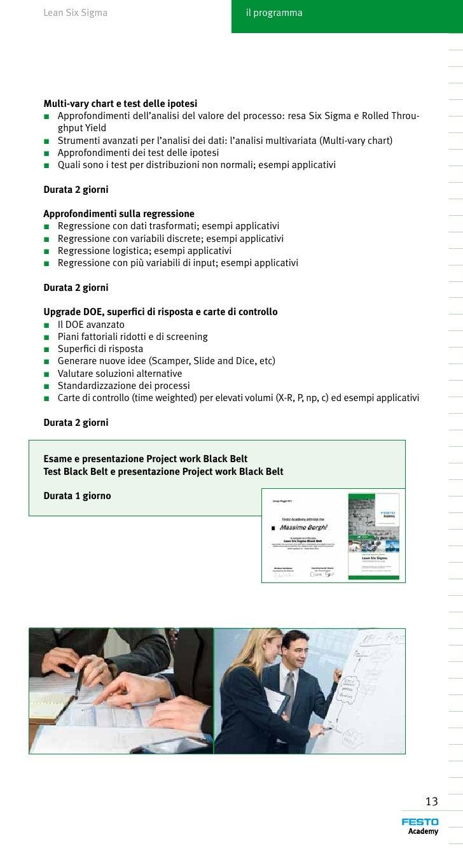 Festo master lean six sigma 2014 green e black for Test di italiano per carta di soggiorno esempi