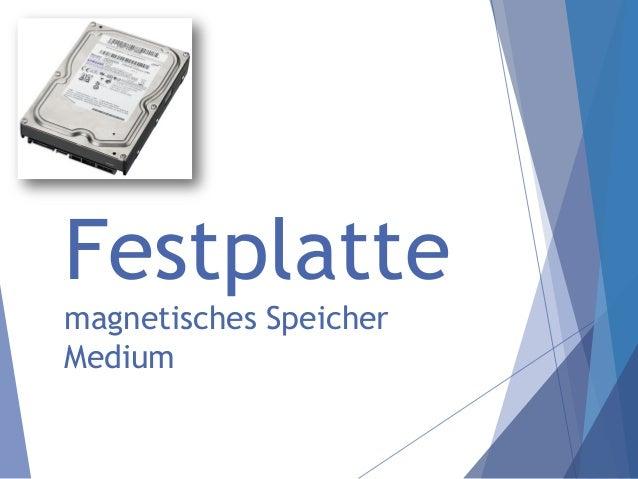 Festplatte magnetisches Speicher Medium