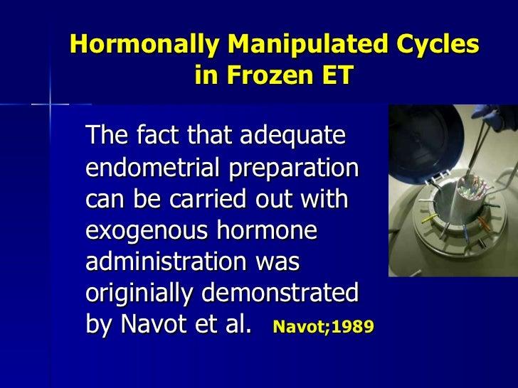 Frozen embryos regulation