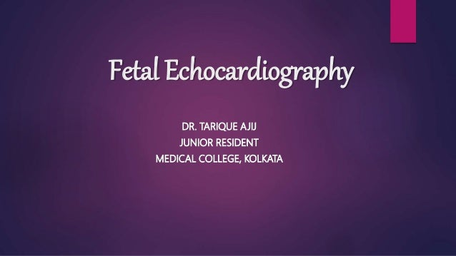 Fetal Echocardiography DR. TARIQUE AJIJ JUNIOR RESIDENT MEDICAL COLLEGE, KOLKATA