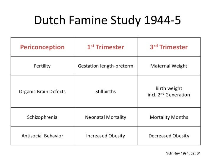 The Dutch famine and its long-term consequences for adult ...