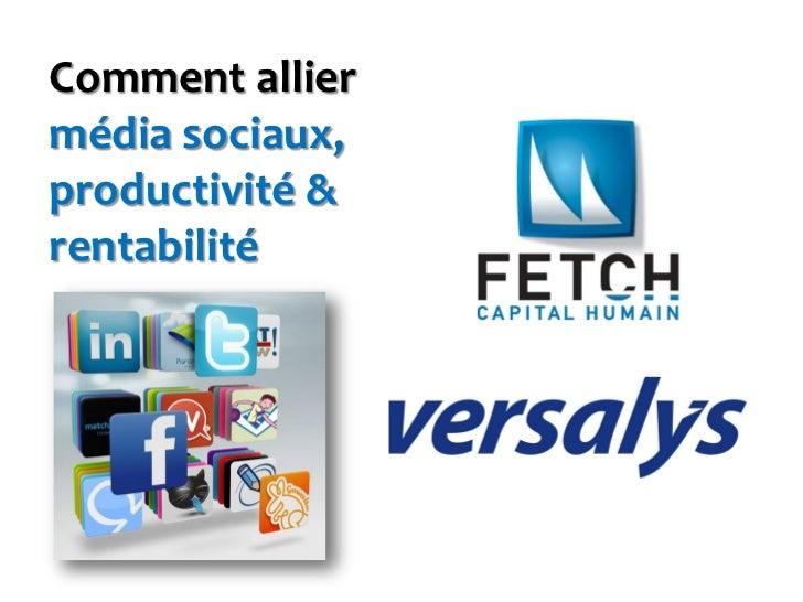 Comment alliermédia sociaux,productivité &rentabilité
