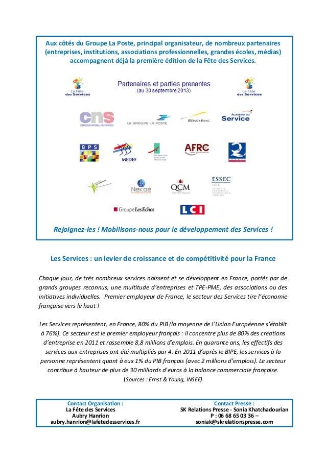 Fête des Services, 3 décembre 2013 Slide 2
