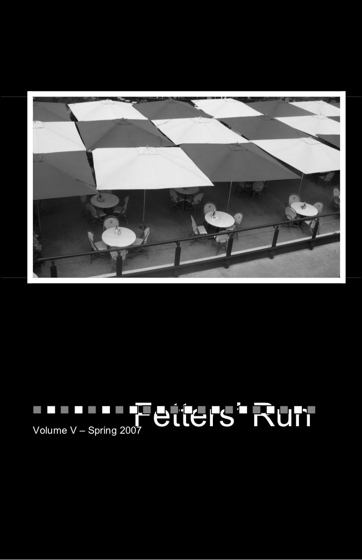 Fetters Run Literary Journal 2007