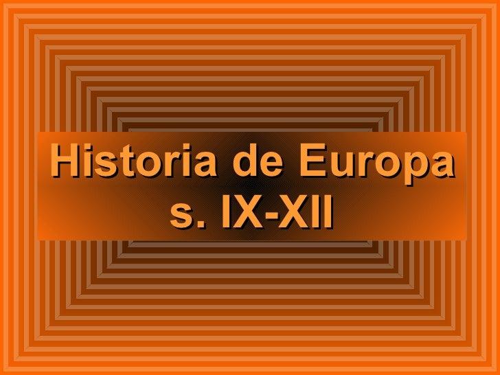 Historia de Europa s. IX-XII