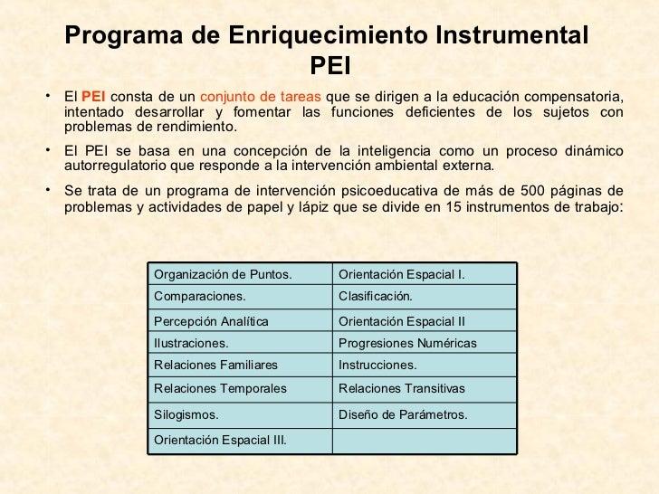 programa de enriquecimiento instrumental de feuerstein