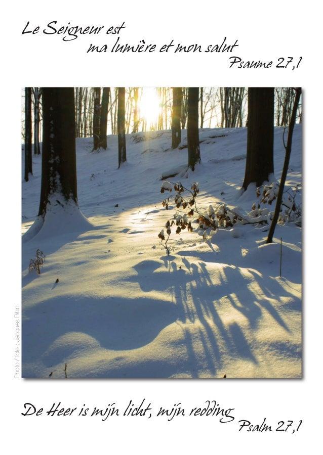 De Heer is mijn licht, mijn redding Psalm 27,1 Le Seigneur est ma lumière et mon salut Psaume 27,1 Photo/foto:JacquesBihin