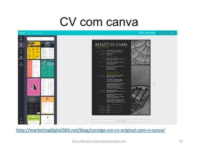 Website CV Vasco Marques www.vascomarques.com 13 http://marketingdigital360.net/blog/procura-emprego-ativa-com-website/ ht...