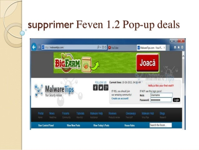 supprimer Feven 1.2 Pop-up deals