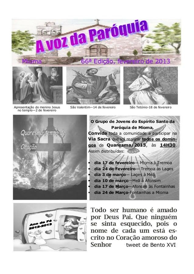 Mioma 66ª Edição, fevereiro de 2013Mioma 66ª Edição, fevereiro de 2013Mioma 66ª Edição, fevereiro de 2013 São Tetónio-18 d...