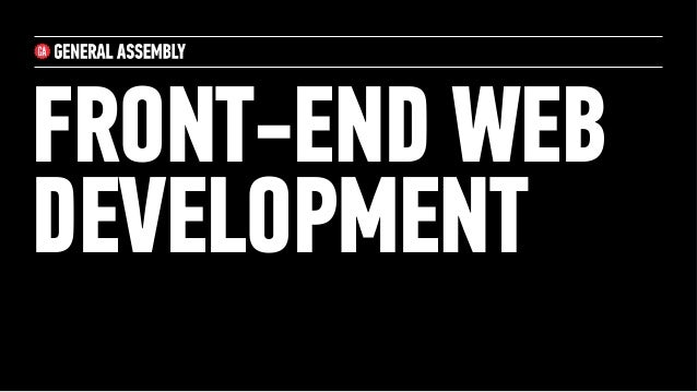 FRONT-END WEBDEVELOPMENT