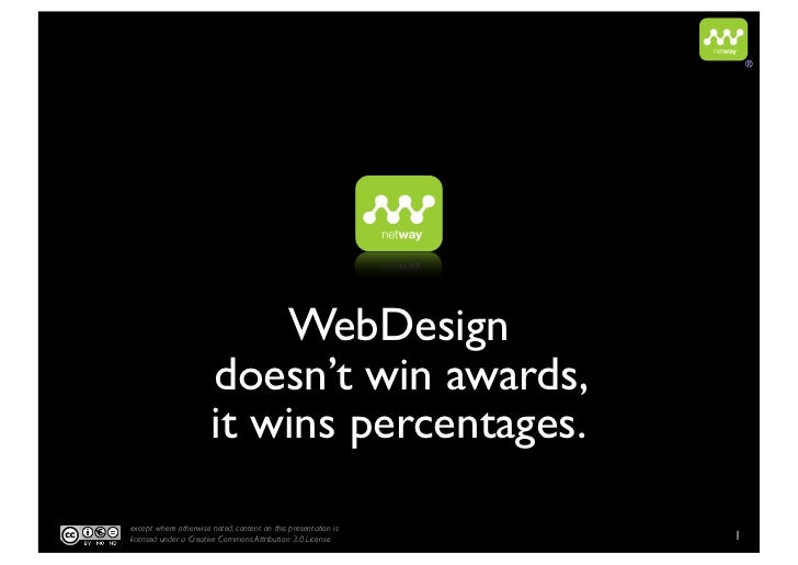 ®                           WebDesign                       doesn't win awards,                       it wins percentages....