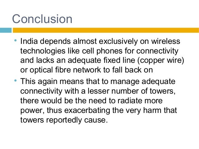 Fewer mobile towers, more radiation