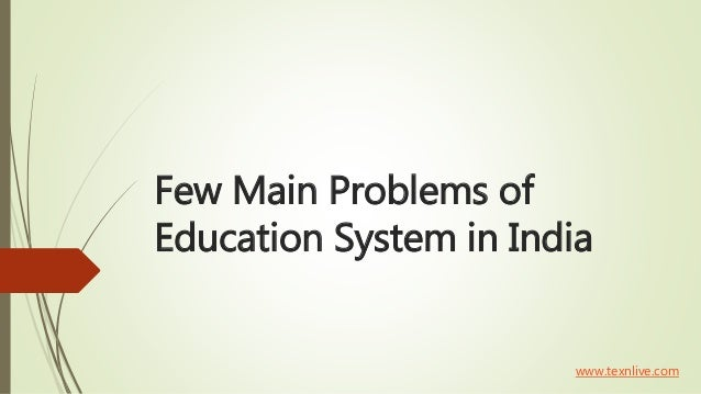 Restructuring of indian education system