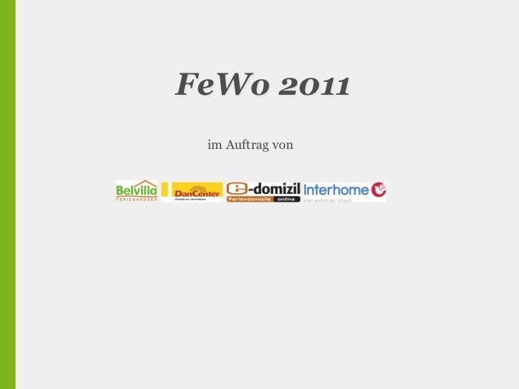 FeWo 2011 im Auftrag von