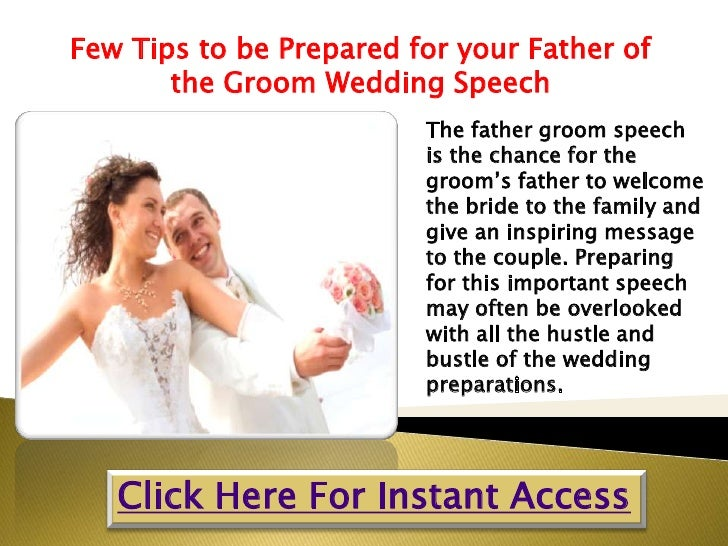Few Tips To Be Prepared For Your Father Of The Groom