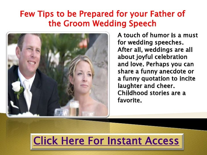 Wedding Day Speeches Father Of The Bride: Few Tips To Be Prepared For Your Father Of The Groom