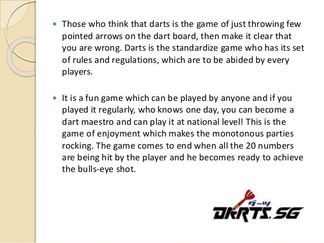 Few Tips While Playing Darts