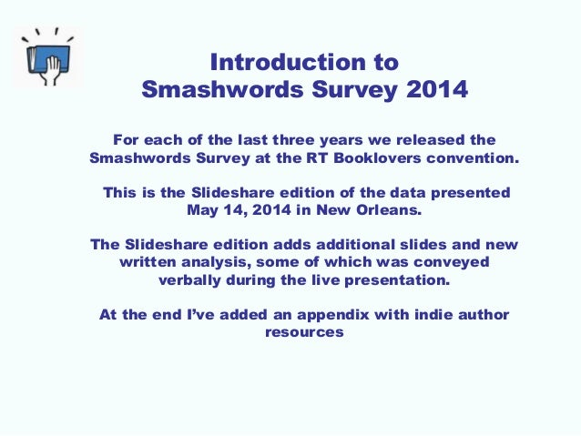 2014 Smashwords Survey - How to Sell More Ebooks Slide 2