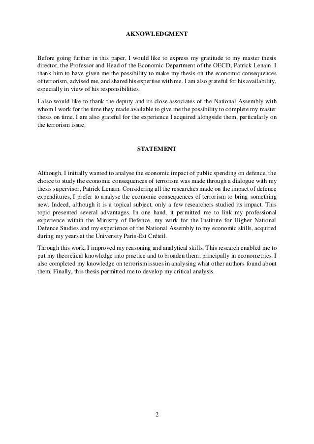 good thesis on terrorism