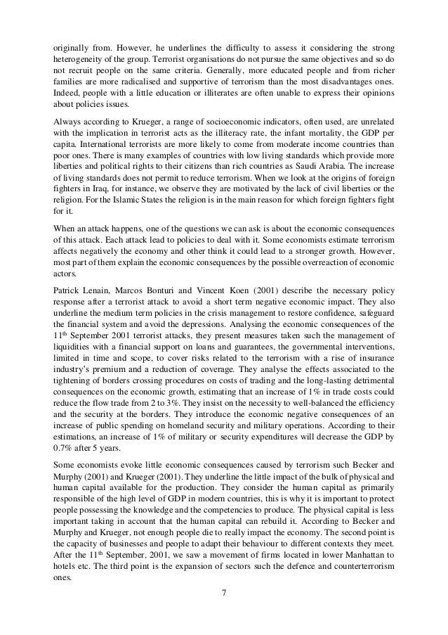 Phd thesis on terrorism