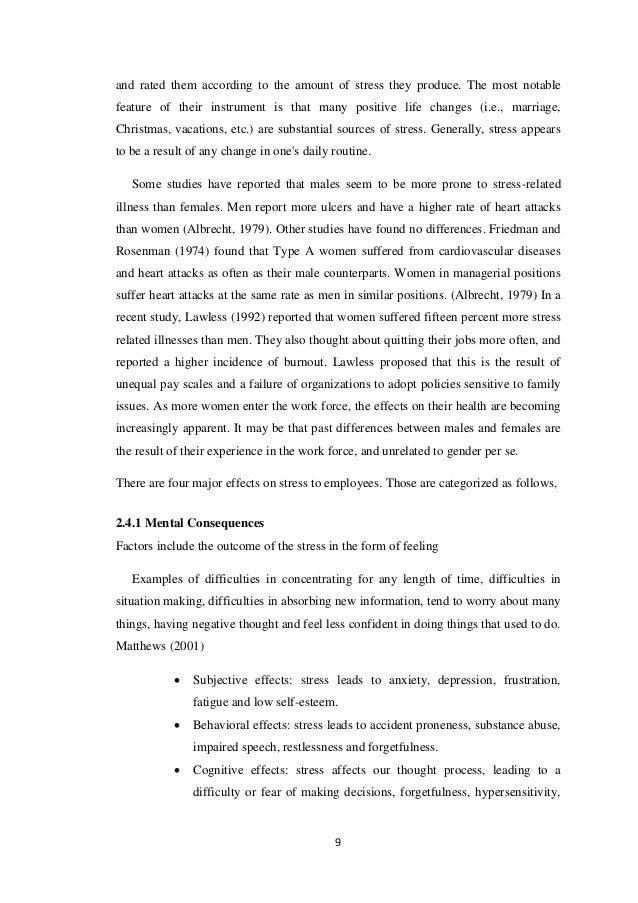 impact of job stress on employee performance pdf