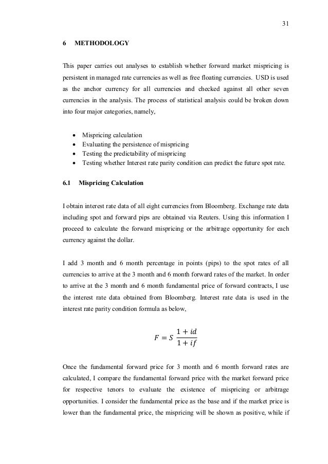 Persistence and Predictability of Forward Exchange Arbitrage
