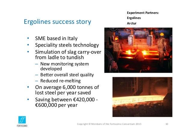 Ergolines successstory • SMEbasedinItaly • Specialitysteelstechnology • Simulationofslagcarry‐over fromladleto...