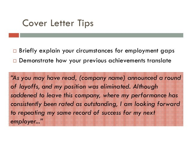 How to Explain Gaps in Employment on a Resume Cover Letter