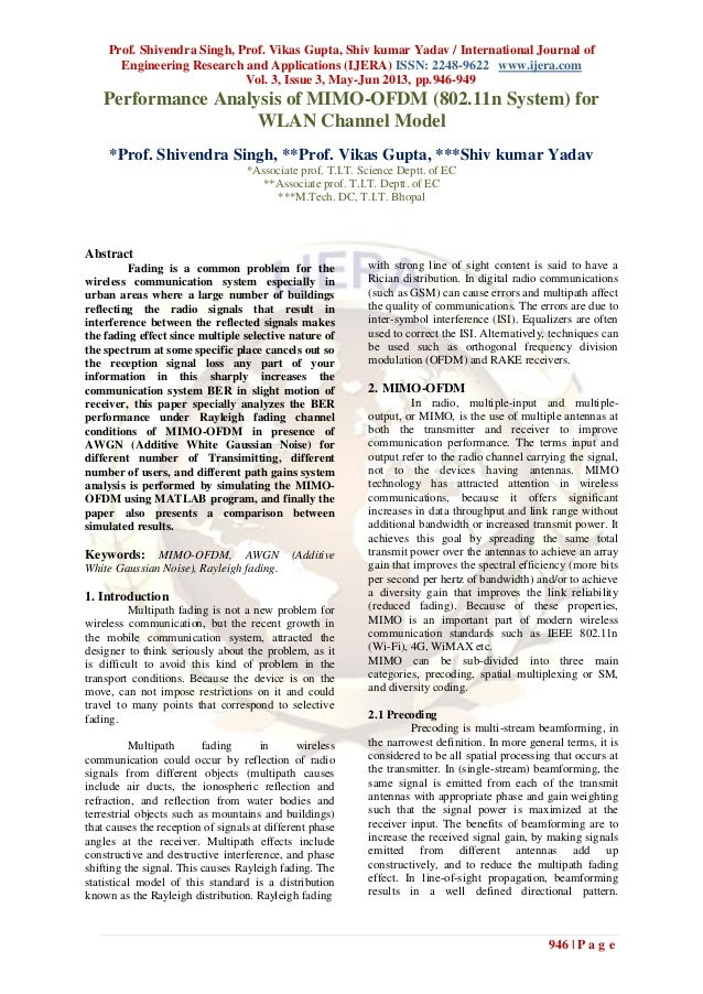 Prof. Shivendra Singh, Prof. Vikas Gupta, Shiv kumar Yadav / International Journal ofEngineering Research and Applications...