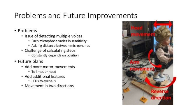 Problems and Future Improvements • Problems • Issue of detecting multiple voices • Each microphone varies in sensitivity •...
